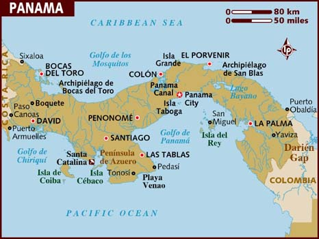 map of boquete panama