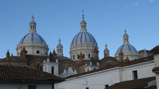 Take a photo of Cuenc'as most famous blue domes.