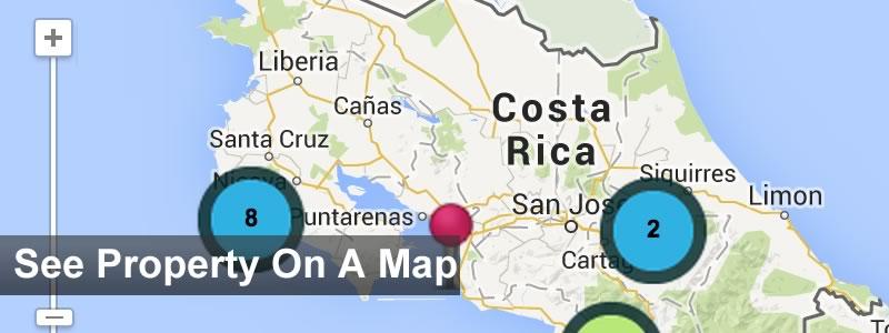 costa rica real estate map